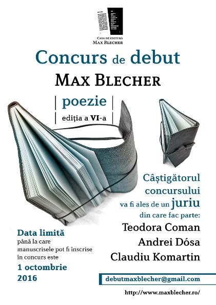 concurs debut max blecher afis